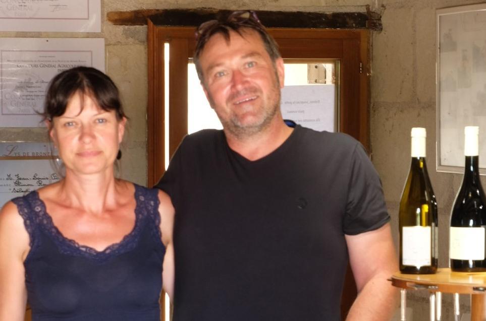 Agnès et Jean-Louis Page du domaine du Puy Rigault