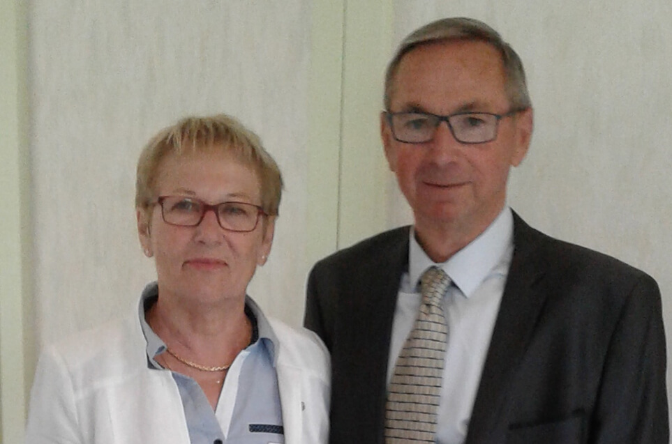 Marylène et Michel du domaine du Puy Rigault, vignobles en AOC Chinon