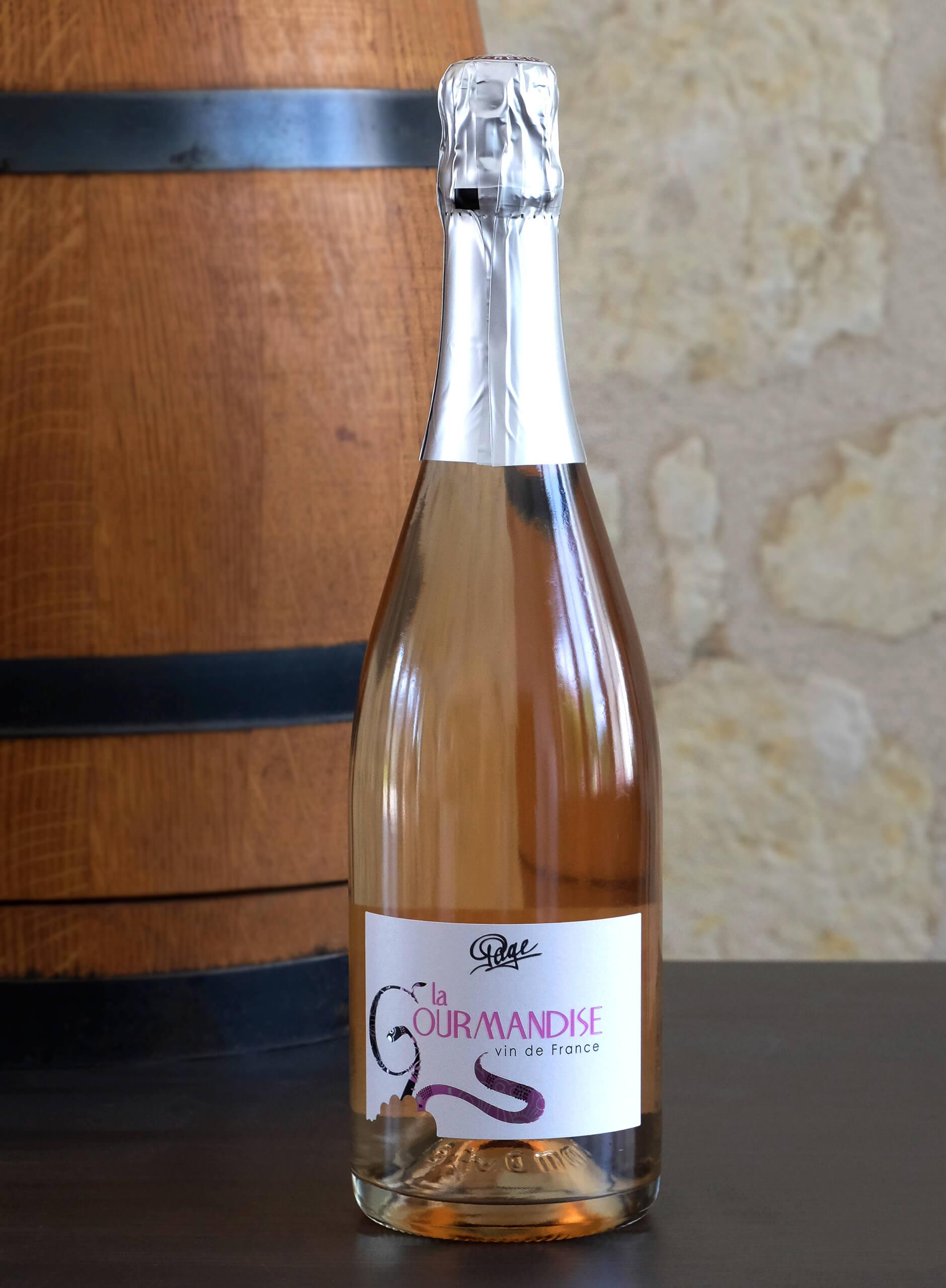 Cuvée fines bulles rosées du Domaine du Puy Rigault.